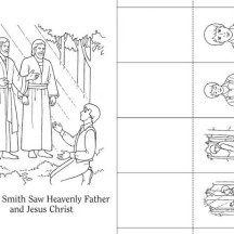 Joseph Smith Saw Heavenly Father and Jesus Christ Coloring Page