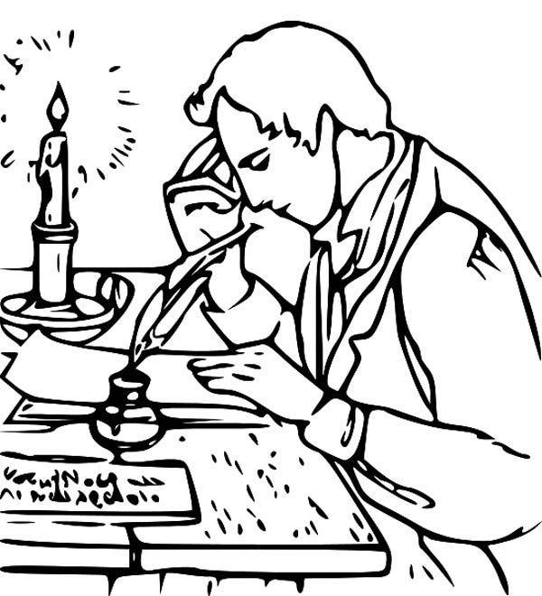 Joseph Smith Write Book of Mormon Coloring Page NetArt