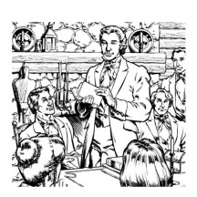 Joseph Smith and His Followers Coloring Page