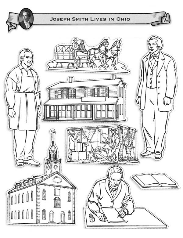 Joseph Smith and Restoration Early Christian Church Coloring Page ...