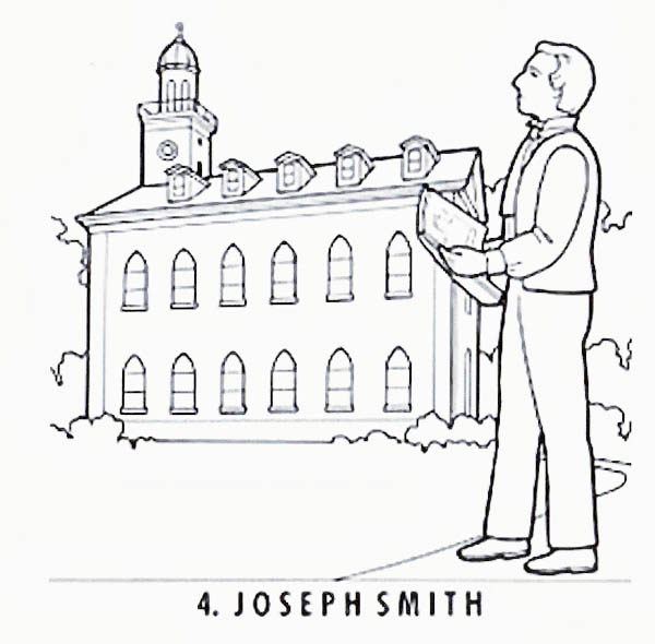 Joseph Smith and the Church of Jesus Christ of Latter Day Saints Coloring Page