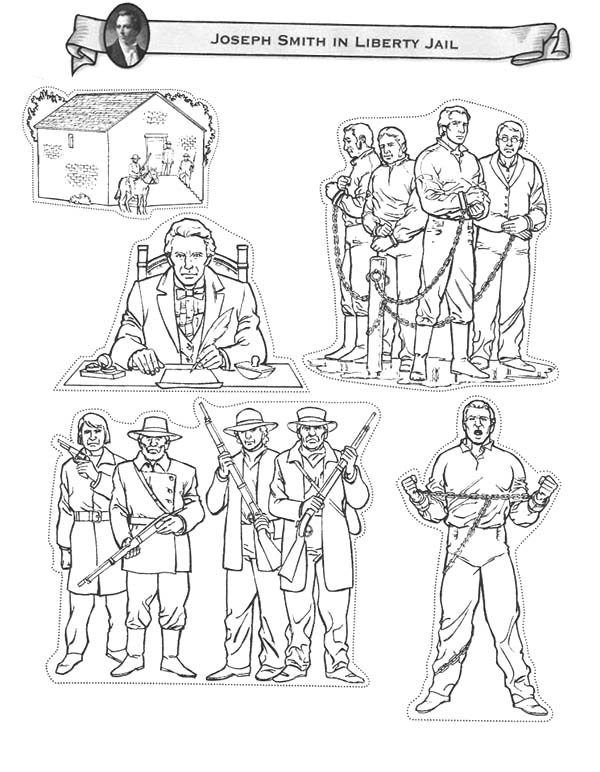 Joseph Smith In Liberty Jail Coloring Page