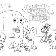 jungle junction the movie coloring page - Jungle Junction Coloring Pages