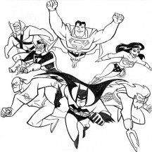 Justice League International Coloring Page