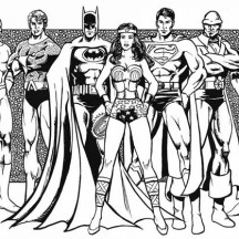 justice league of america coloring page