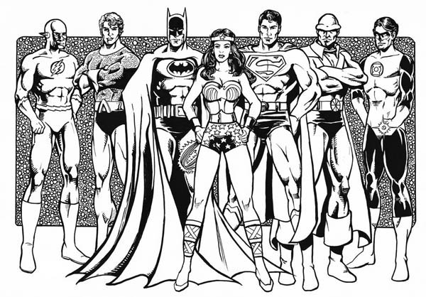 Justice League of America Coloring Page - NetArt