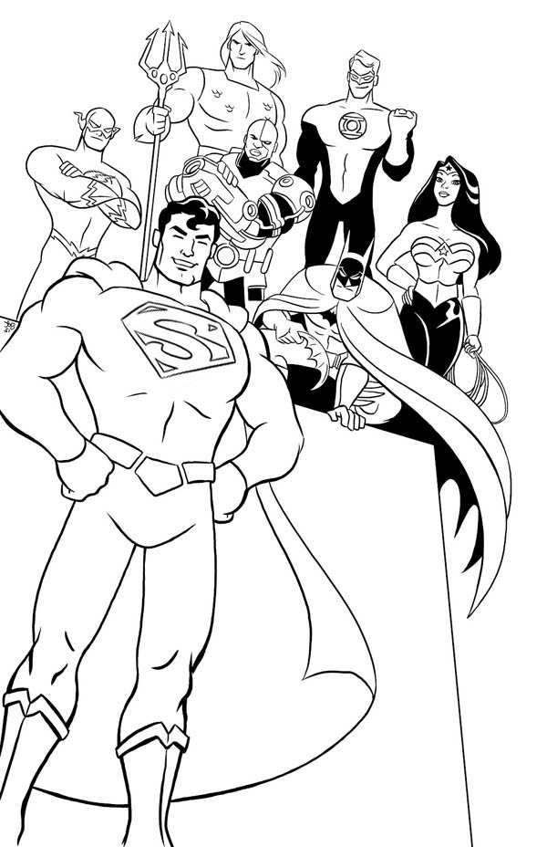 justice league coloring pages - justice league of america task force coloring page netart