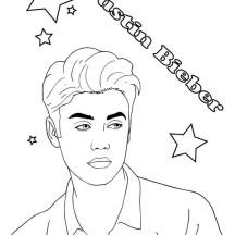 Justin Bieber Boyfriend Coloring Page