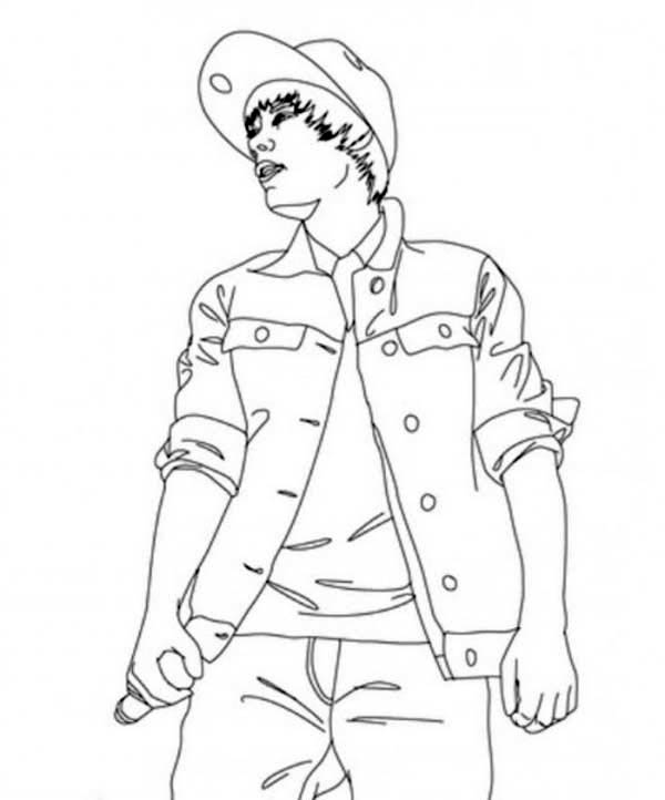 Justin Bieber Concert Believe Tour Coloring Page
