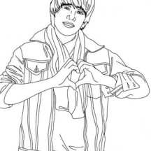 Justin Bieber Never Say Never Coloring Page
