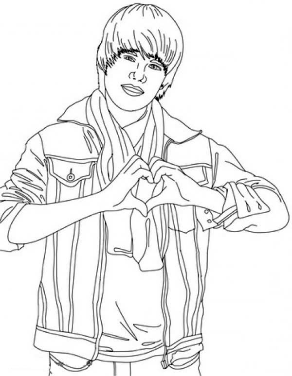 Justin bieber never say never coloring page netart for Justin bieber coloring pages