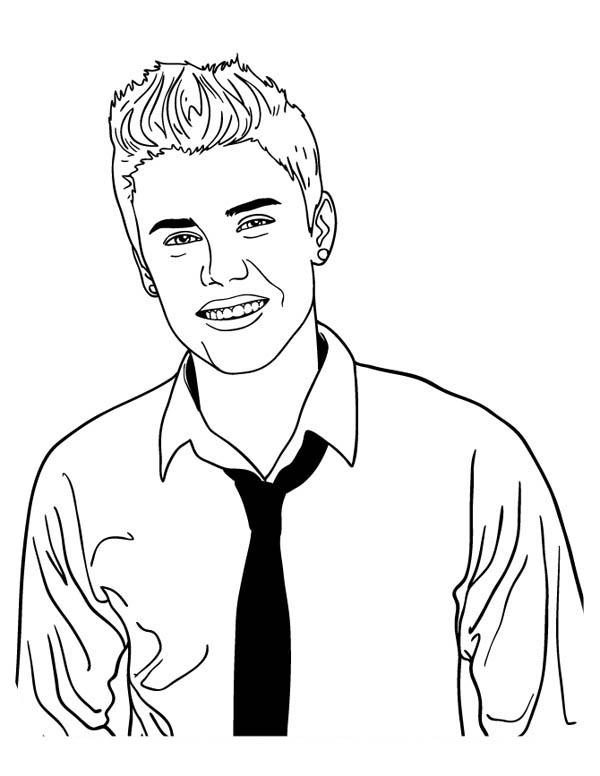 Justin Bieber Photoshoot Coloring Page
