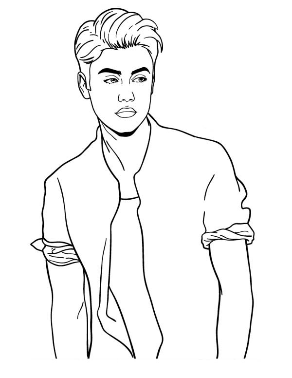 Justin bieber on tour free coloring pages for Free justin bieber coloring pages