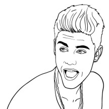 Justin Bieber Smile to Fans Coloring Page