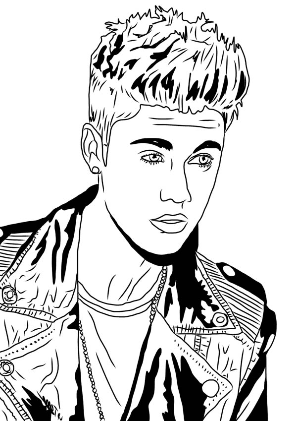 Justin Bieber Under the Mistletoe Coloring Page - NetArt