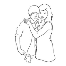 Justin Bieber and Her Mom Coloring Page