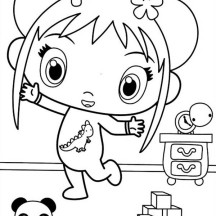 Kai Lan and Her Toys in Ni Hao Kai Lan Coloring Page