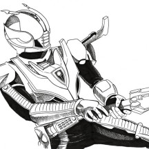 Kamen Rider Den O Coloring Page