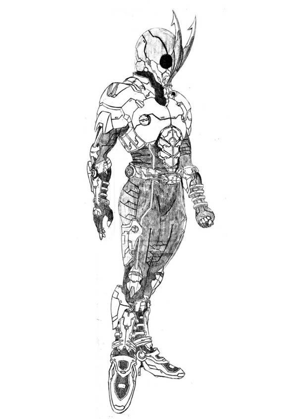 Kamen Rider Eclipse Coloring Page