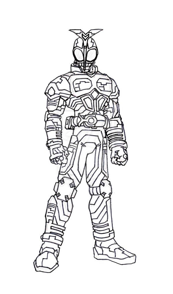 kamen rider coloring pages - photo#45