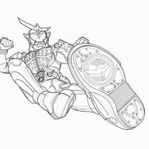 Kamen Rider Kick Attack Coloring Page
