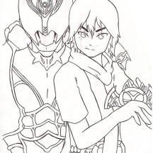 Kamen Rider Kiva Coloring Page