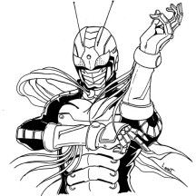 Kamen Rider the First Coloring Page