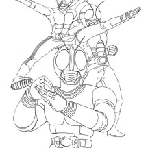 Kamen Rider the Masked Rider Coloring Page