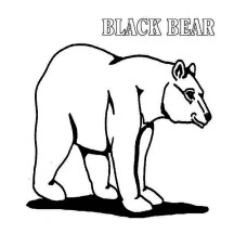 Kids Drawing of Black Bear Coloring Page