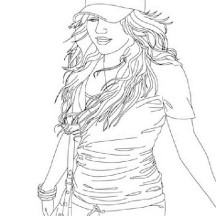 Kids Drawing of Hannah Montana Coloring Page