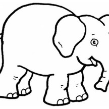 Kids Drawing of an Elephant Coloring Page
