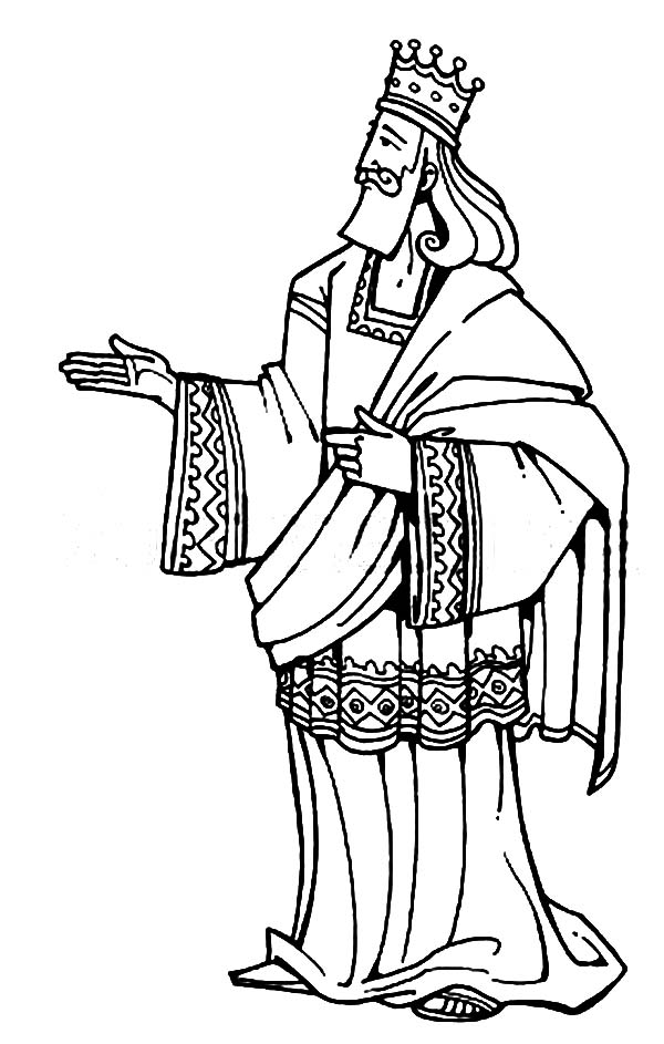 King Solomon Of Israel In The Bible Heroes Coloring Page Netart King Solomon Coloring Pages