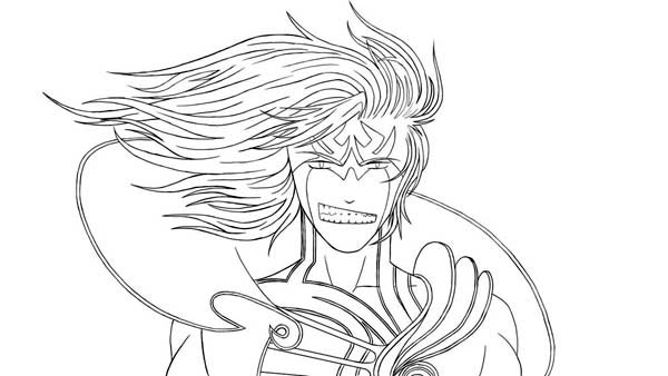King of Underworld Hades Coloring Page