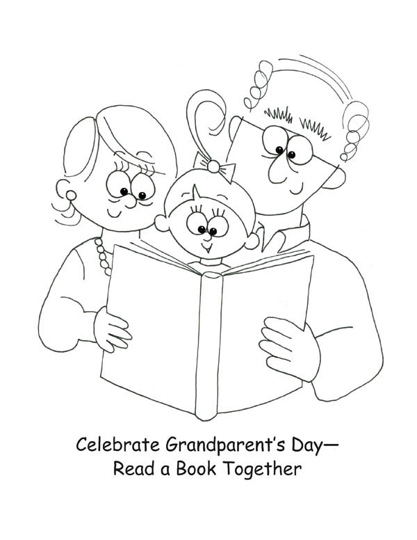 Lets Celebrate Gran Parents Day Coloring Page