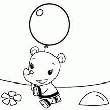 Lulu Love Balloon in Ni Hao Kai Lan Coloring Page