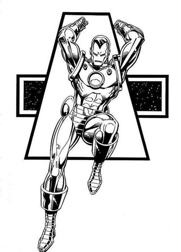 Marvel Heroes Iron Man Coloring Page