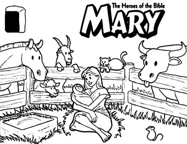 Mary The Bible Heroes Coloring