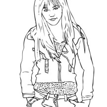 Miley Stewart in Hannah Montana Coloring Page
