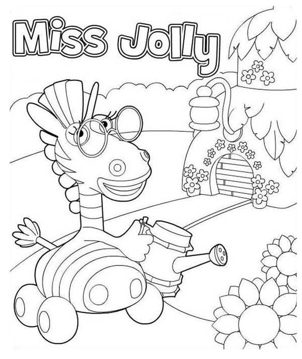 miss jolly from jungle junction coloring page - Jungle Junction Coloring Pages