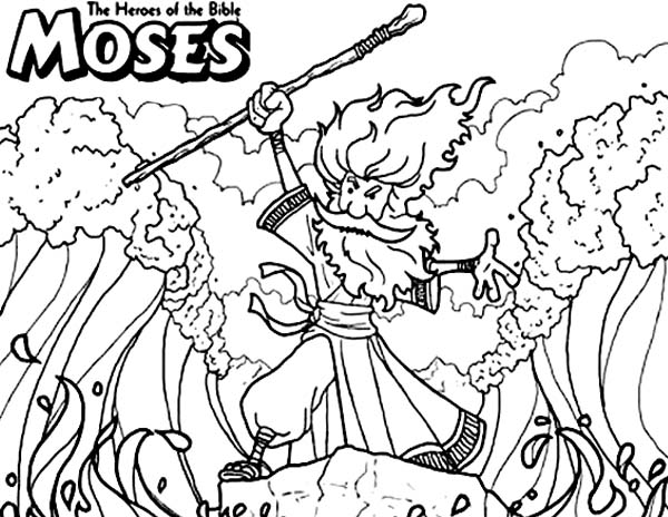 Moses The Bible Heroes Coloring Page NetArt