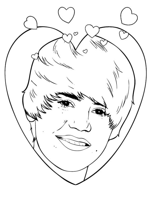 Justin beaver free coloring pages for Justin bieber coloring pages