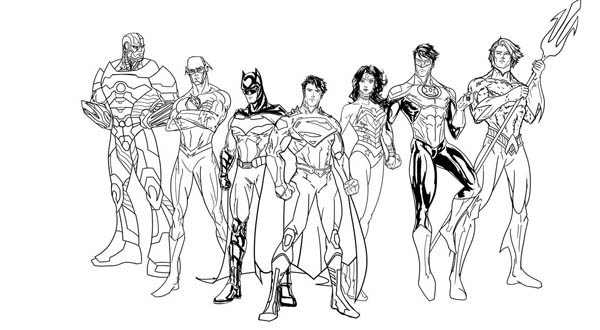 justice league unlimited coloring pages - free justice league coloring pages