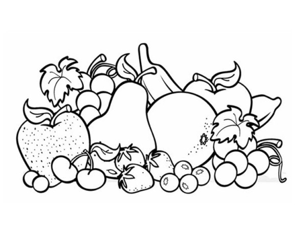 Photo Object Fruit Coloring Page