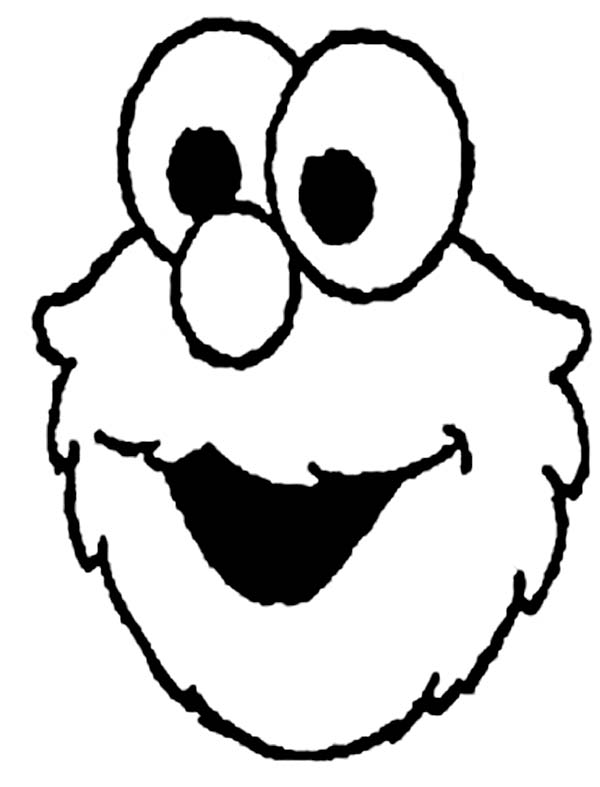 Picture of Elmo Head Coloring Page