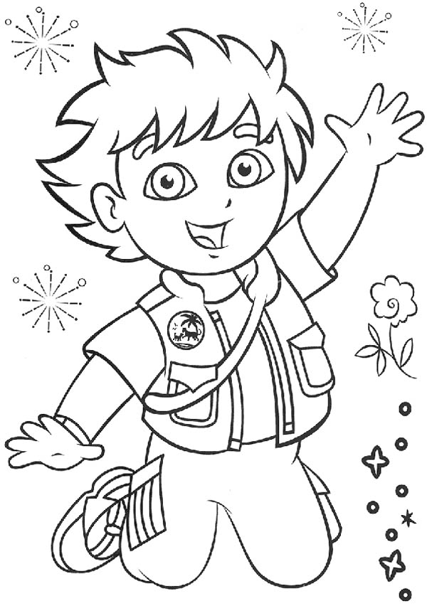 Picture of Go Diego Go Coloring Page - NetArt