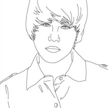 Picture of Justin Bieber Coloring Page
