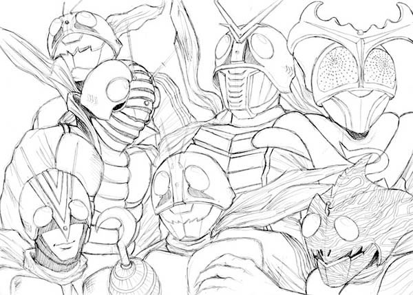 Picture of Kamen Rider Coloring Page
