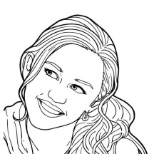 Picture of Miley Stewart from Hannah Montana Coloring Page