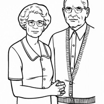 Picture of Our Grandparent in Gran Parents Day Coloring Page