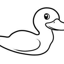 Picture of a Duck Coloring Page